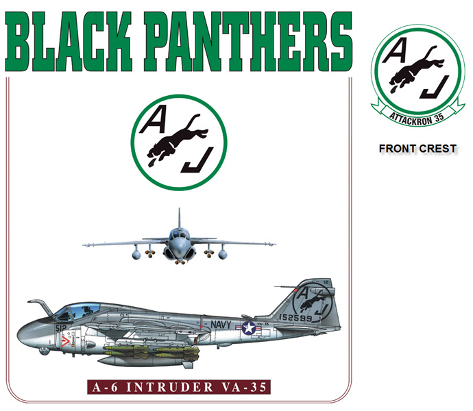 A6 Intruder - VA-35 Black Panthers Squadron
