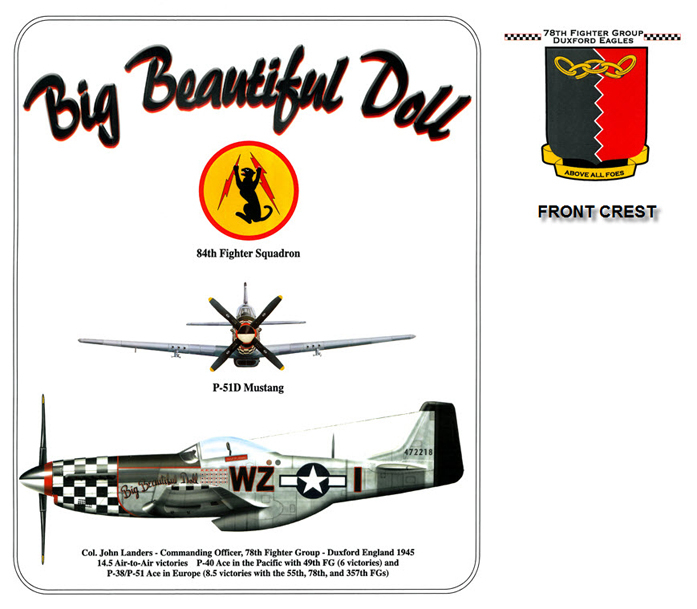 P-51 Mustang - Big Beautiful Doll - 78th Fighter Group