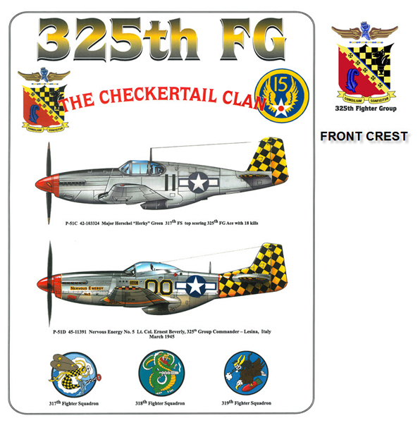 P-51 Mustang - Checkertail Clan - 325th Fighter Group