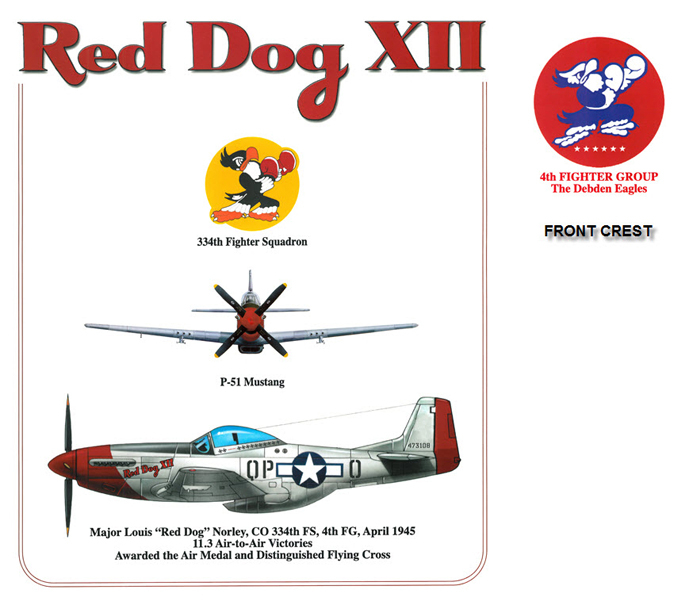P-51 Mustang - Red Dog XII - 4th Fighter Group