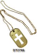 Dog Tag - Cross Cut Out