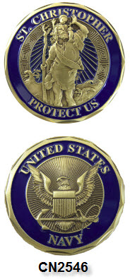 Challenge Coin - US Navy - St. Christopher