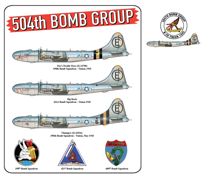 504th Bomb Group B-29s