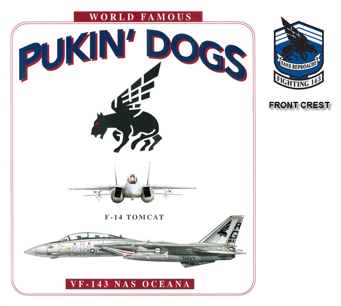 F-14 Tomcat - VF-143 The World Famous Pukin' Dogs