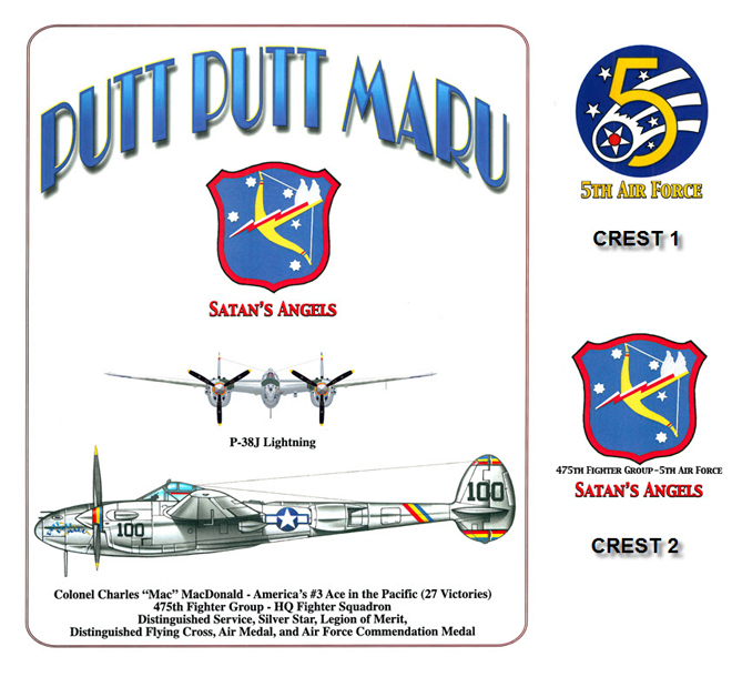 P-38 Lightning - Putt Putt Maru - 475th Fighter Group