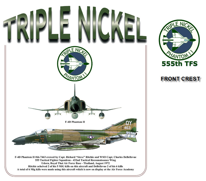 F-4D Phantom II - 555TFS Triple Nickel