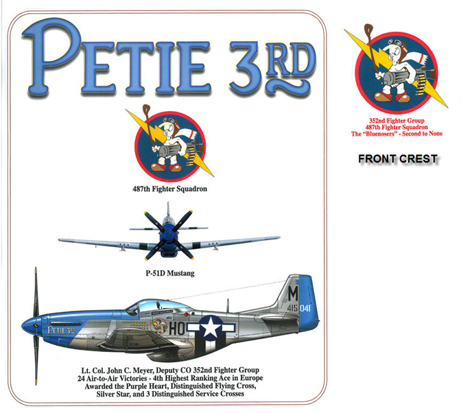 P-51 Mustang - Petie 3rd - 352nd Fighter Group