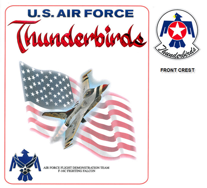 Thunderbirds - F-16 and Flag
