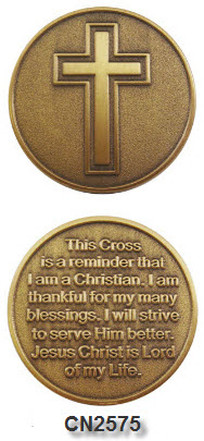 Challenge Coin - Spiritual - Cross