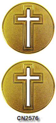 Challenge Coin - Spiritual - Cross Cut-Out