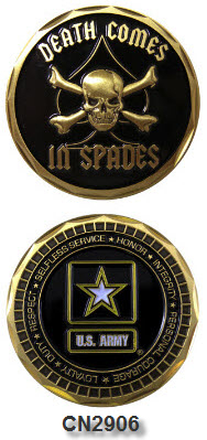 Challenge Coin - US Army - Death Spade