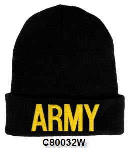 Cap - Army Embroidered Letter Watch Cap