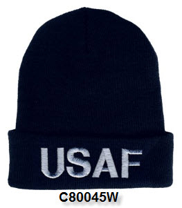 Cap - Air Force Embroidered Letter Watch Cap