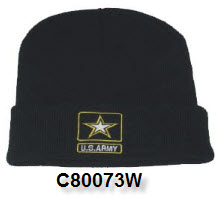 Cap - Army Embroidered Watch Cap