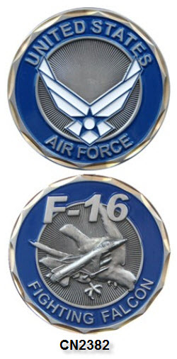 Challenge Coin - USAF - F-16 Fighting Falcon