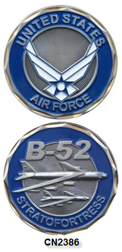 Challenge Coin - USAF - B-52 Stratofortress Bomber