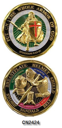 Challenge Coin - Spiritual - Armor of God