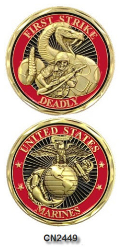 Challenge Coin - USMC - First Strike Deadly