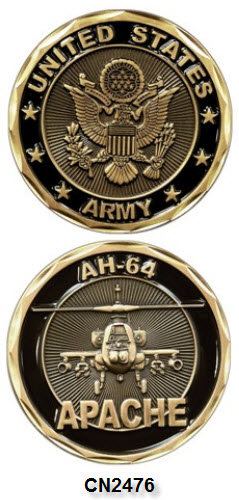 Challenge Coin - US Army - AH-64 Apache