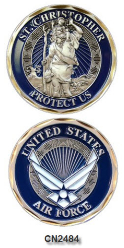 Challenge Coin - USAF - St. Christopher