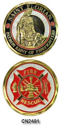 Challenge Coin - Spiritual - Fire and Rescue St. Florian