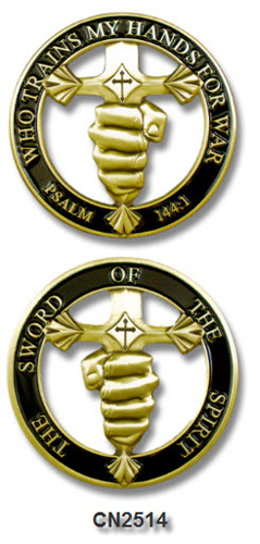 Challenge Coin - Spiritual - Sword of the Spirit Cut Out