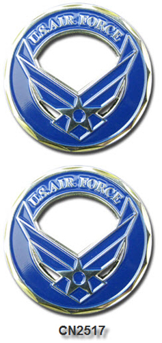 Challenge Coin - USAF - Winged Star Emblem Cut Out