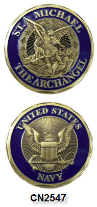 Challenge Coin - US Navy - St. Michael