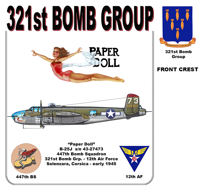 "321st Bomb Group - ""Paper Doll"""