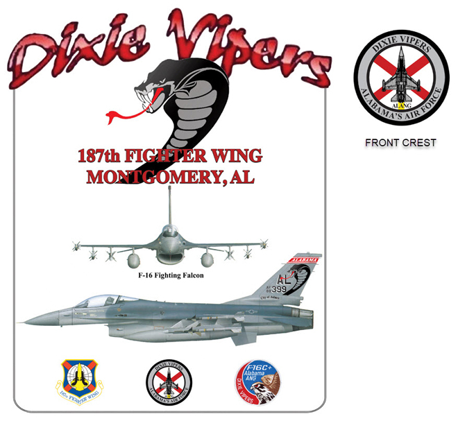 Dixie Vipers F-16s